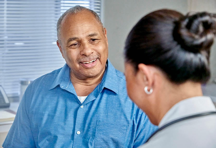 Intermountain primary care provider with patient